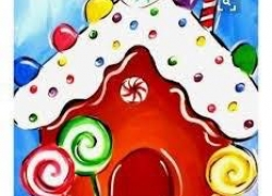 Kids Painting Party - Gingerbread House (Sunday,  December 8) 2:00-4:00