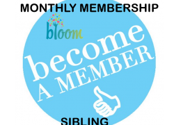 One Month Membership (Sibling)