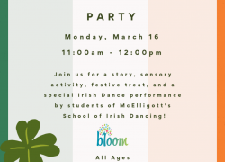 St. Patty's Day Party! (Monday, March 16) 11:00am-12:00pm